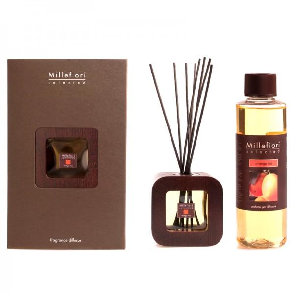 Millefiori Selected Design Orange Tea Diffuser + Nachfüllflasche - Sparset