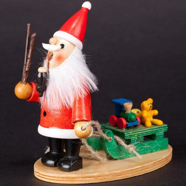 Räuchermännchen Weihnachtsmann mit Baum